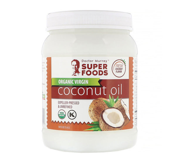 Dr. Murray's, Organic Virgin Coconut Oil, Expeller-Pressed & Unrefined, 54 fl oz (1.6 l)