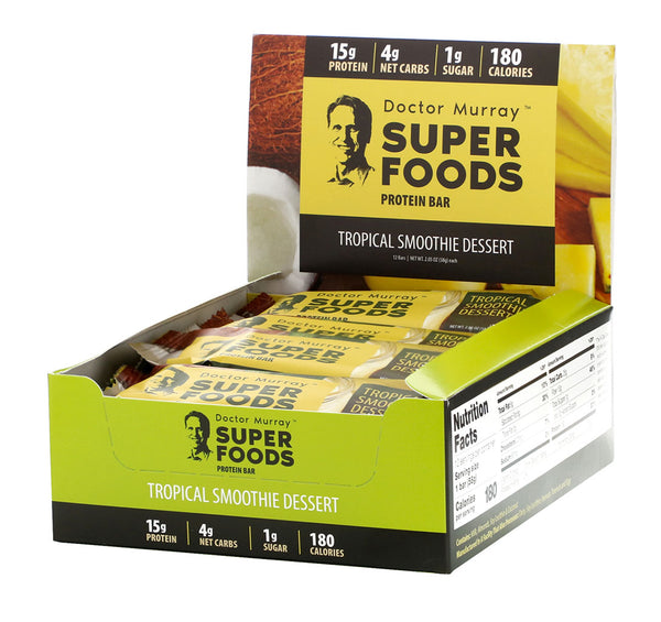 Tropical Smoothie Dessert - Box of 12 Protein Bars