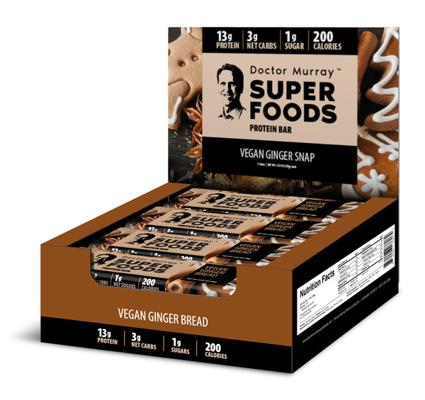 Vegan Ginger Snap - Box of 12 Protein Bars