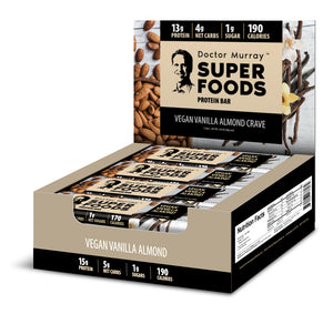 Vegan Vanilla Almond Crave - Box of 12 Protein Bars