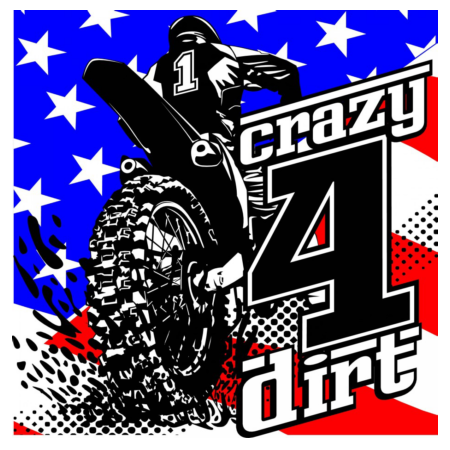 Crazy4Dirt Patriotic #1 Decal