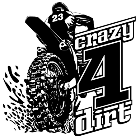 Crazy4Dirt #23 Decal