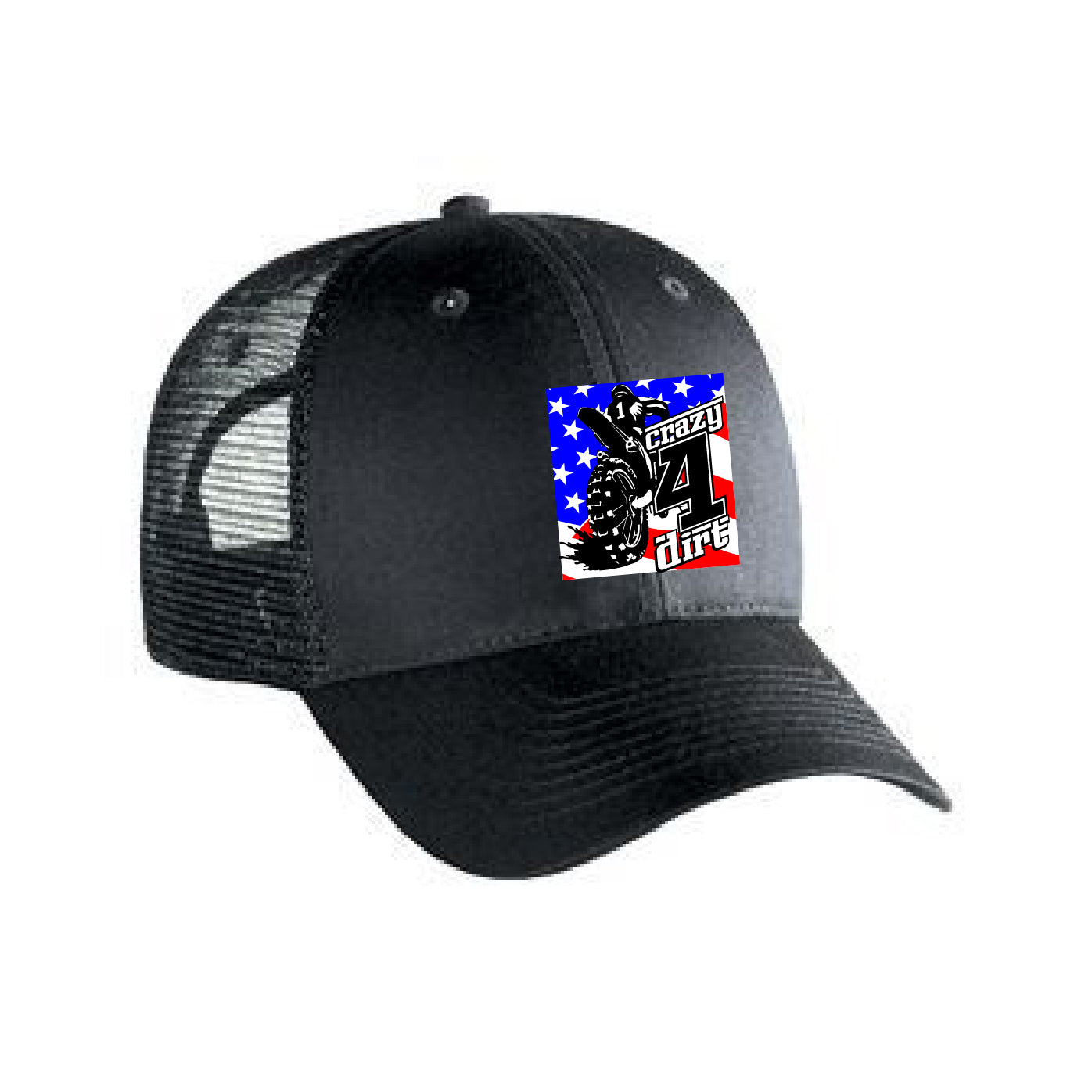 Crazy4Dirt Trucker Cap - Black/Black