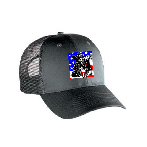 Crazy4Dirt Trucker Cap - Charcoal Gray