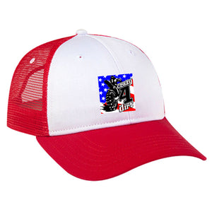 Crazy4Dirt Trucker Cap - Red/White/Red