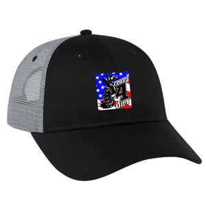 Crazy4Dirt Trucker Cap - Black/Black/Gray