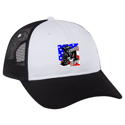 Crazy4Dirt Trucker Cap - Black/White/Black