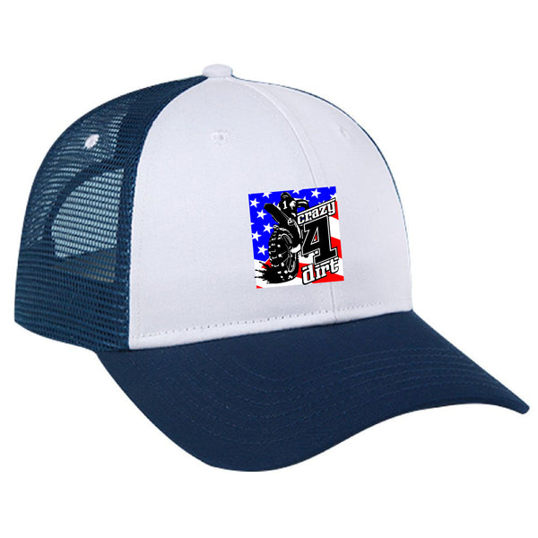 Crazy4Dirt Trucker Cap - Navy/White/Navy