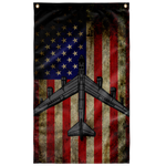 B-52H Bomber Colorized Flag