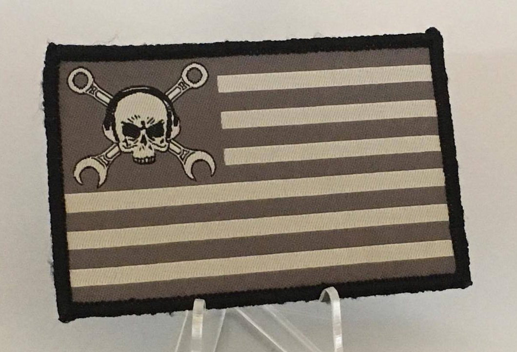 MX Flag Black/Gray Woven Patch