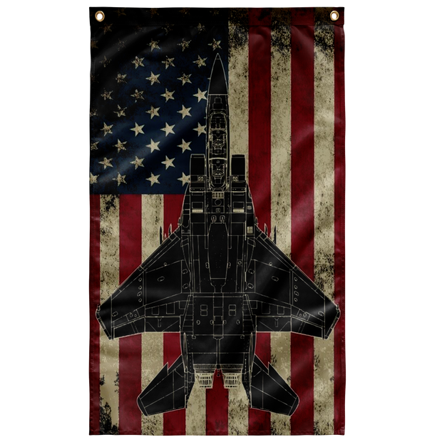 F-15 Fighter Colorized Display Flag