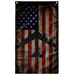 B-52 Bomber Colorized Display Flag V2