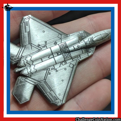 F-22 3D Holographic Challenge Coin