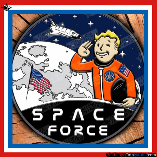 Space Force PVC Morale Patch (3D)