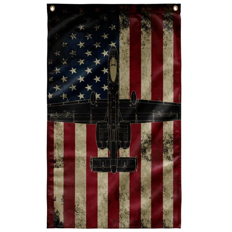 USA Military A-10 Warthog Colored US Airforce Flag