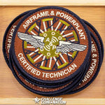 Airframe & Powerplant Certified Technician Patch - Aircraft Maintenance