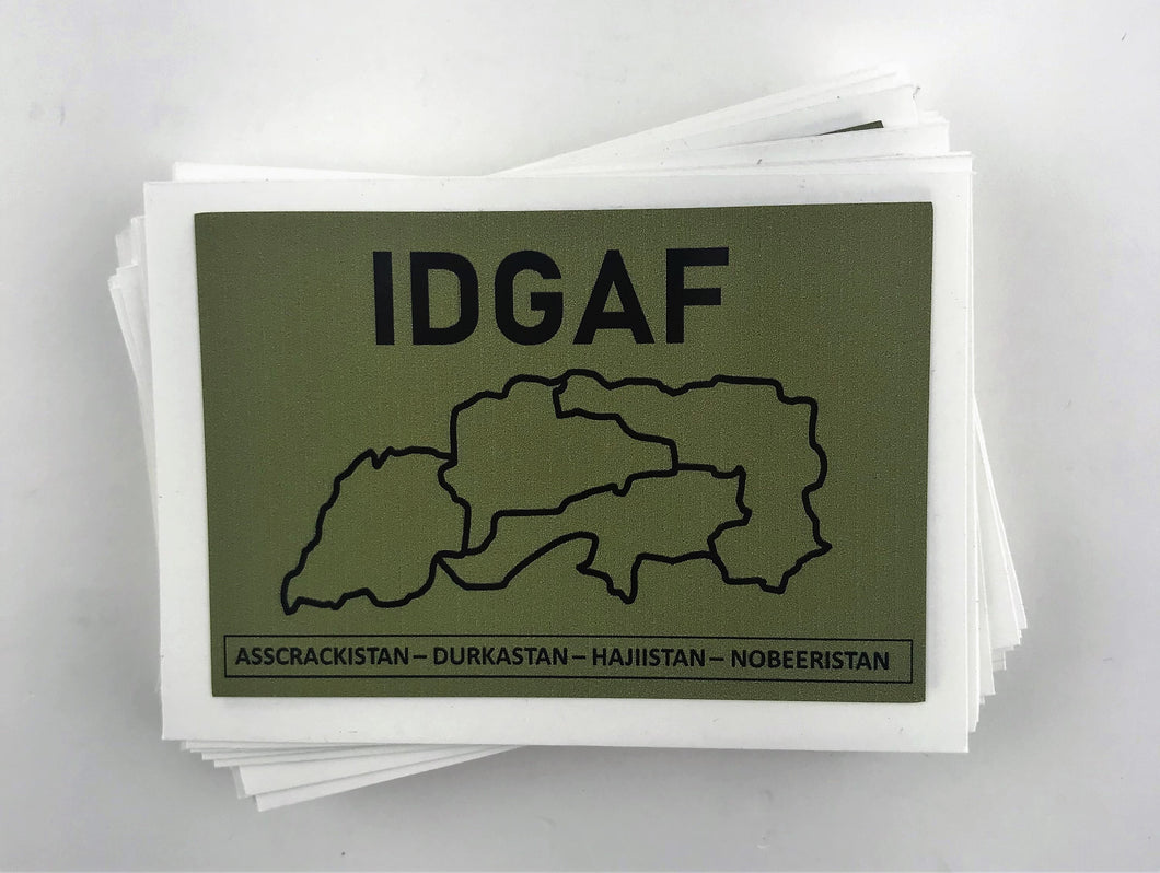 IDGAF Sticker