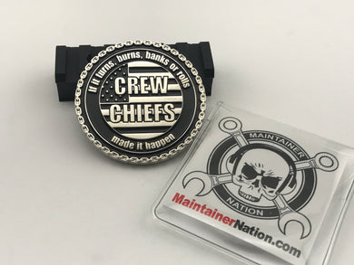 Custom Crew Chief Challenge Coin - Front