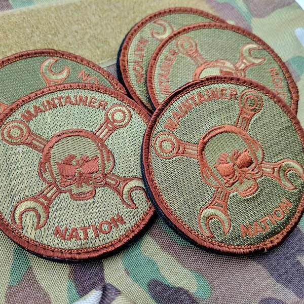 Maintainer Nation OD Green Embroidered Patch
