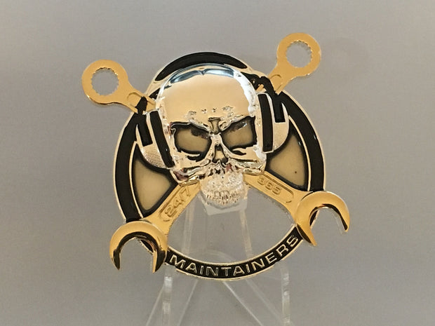 Maintainer Nation Skull Challenge Coin