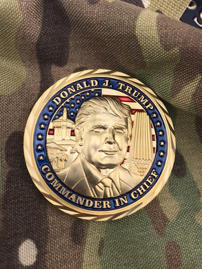 Donald Trump Presidential 3D Challenge Coin - Gold Edition