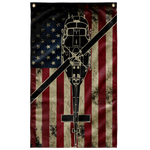 UH-1 Huey Helicopter Colorized Display Flag