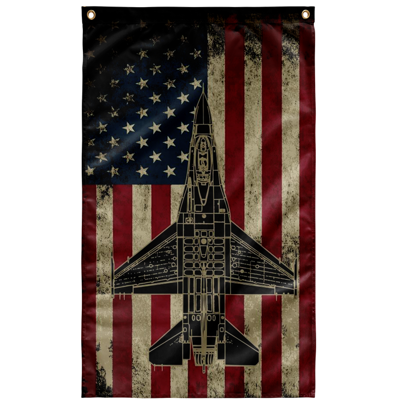 F-16 Fighting Falcon Colorized Display Flag