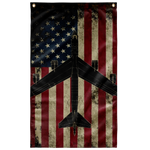 B-52 Bomber Colorized Display Flag