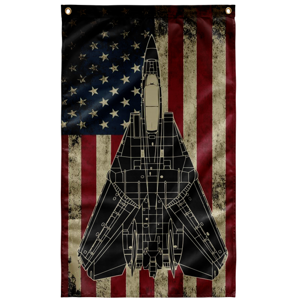 US Navy F-14 Tomcat Colorized Display Flag