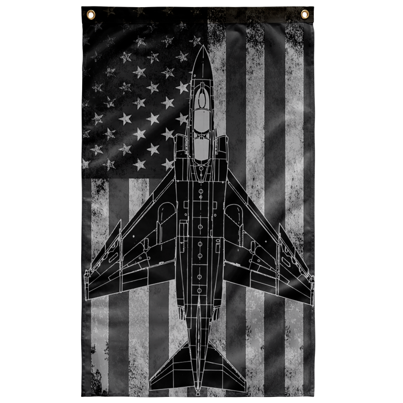 US Navy F-4 Phantom Airplane Display Flag