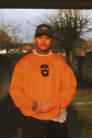 "Storefront ""Mask"" Sweatshirt (Orange)"