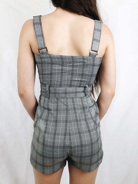 """No Plaid Days"" Romper"