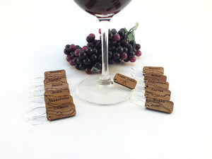 Finger Lake Wine Charms (12 Piece Set) - FREE Shipping