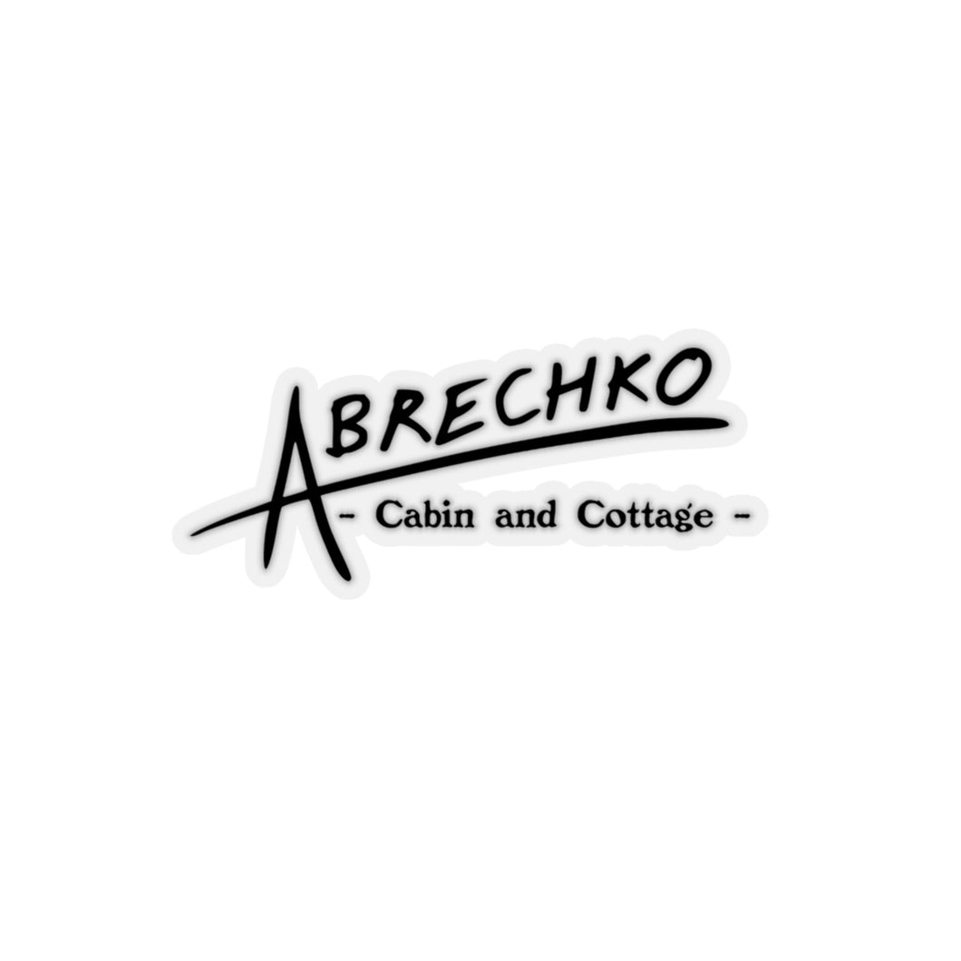 ABrechko Cabin and Cottage Sticker