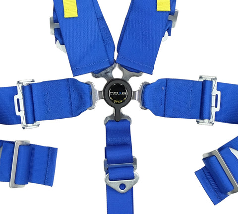 NRG SFI 16.1 5PT 3in. Seat Belt Harness / Cam Lock - Blue - Chris Taylor Racing Services