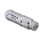 NRG 700 Series M12 X 1.5 Steel Lug Nut w/Dust Cap Cover Set 21 Pc w/Locks & Lock Socket - Silver