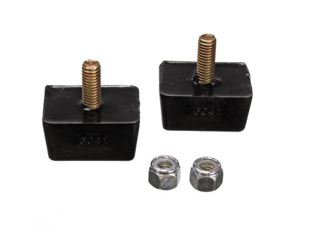 Energy Suspension Univ Blk 7/8in H x 1-7/8in L x 1-3/8in W Low Profile Rectangular Bump Stops (2 ea)