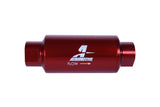 Aeromotive In-Line Filter - (AN-10) 10 Micron Microglass Element Red Anodize Finish