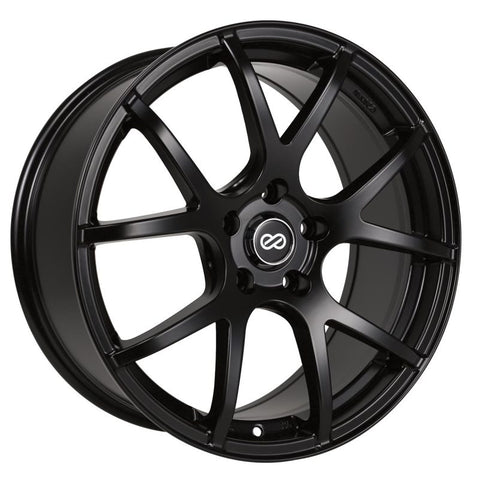Enkei M52 18x8 40mm Offset 5x110 Bolt Pattern 72.6mm Bore Dia Matte Black Wheel