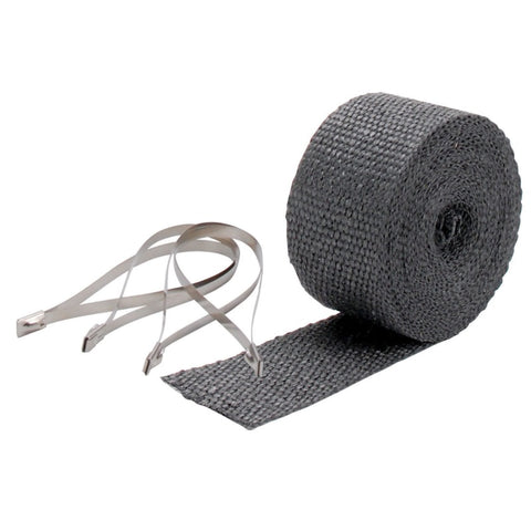 DEI Exhaust Wrap Kit - Pipe Wrap and Locking Tie - Black