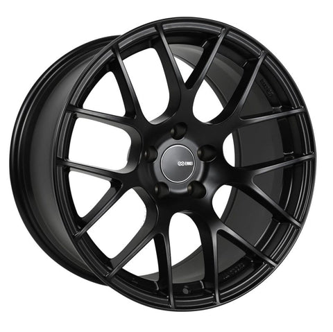 Enkei Raijin 18x9.5 45mm Offset 5x100 Bolt Pattern 72.6 Hub Bore Black Wheel