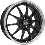 Enkei J10 17x7 5x100 38mm Offset Dia Matte Black w/ Machined Lip Wheel