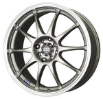 Enkei J10 17x7 4x100/114.3 42mm Offset 72.62mm Bore Dia Silver w/ Machined Lip Wheel