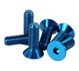 NRG Steering Wheel Screw Upgrade Kit (Conical) - Blue - Chris Taylor Racing Services