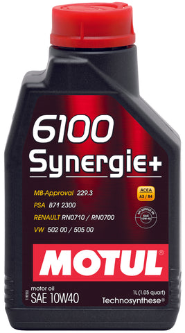Motul 1L Technosynthese Engine Oil 6100 SYNERGIE+ 10W40 - 1L - Chris Taylor Racing Services