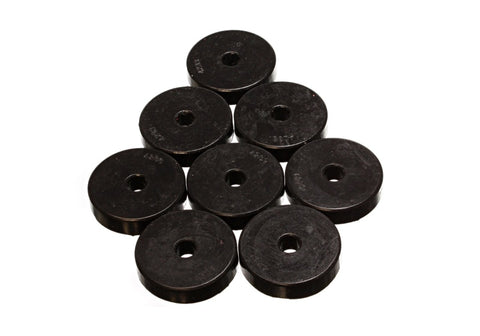 Energy Suspension Polyurethane Pad Set - 2 9/32in OD x 7/16in Hole ID x 1/2in Height - Round Black