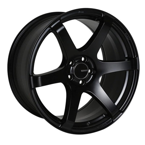 Enkei T6S 18x8.5 35mm Offset 5x114.3 Bolt Pattern 72.6 Bore Matte Black Wheel