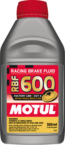 Motul 1/2L Brake Fluid RBF 600 - Racing DOT 4 - Chris Taylor Racing Services