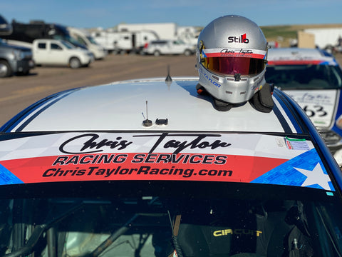Chris Taylor Racing Visor Stickers! - Chris Taylor Racing Services