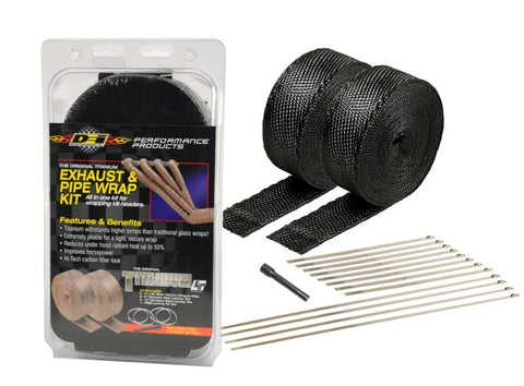 DEI Exhaust Wrap Kit - Black Titanium Wrap Locking Ties & Locking Tie Tool
